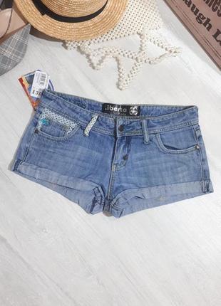Короткие джинсовые шорты. шорты мини джинсовые.