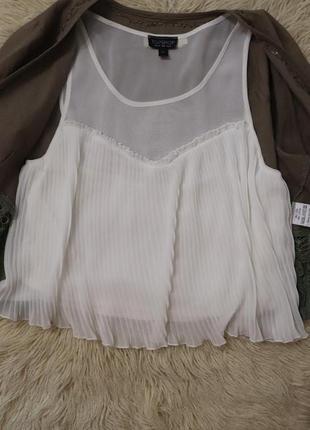 Блуза майка футболка нарядная topshop