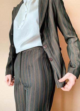 Костюм в полоску женский тройка пиджак брюки юбка в размерах 36-46