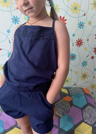 Комбинезон шорты на девочку