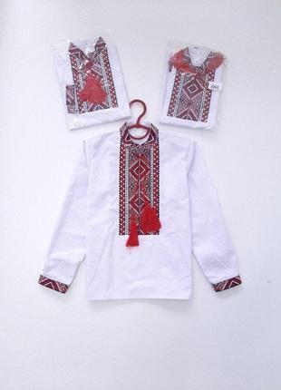 Вышитая рубашка вышиванка для мальчика грицько р.92, 104, 116