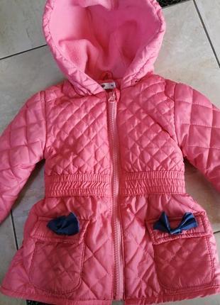 Куртка 80-86 на худеньку дівчинку без дефектів