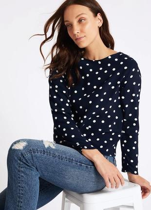 Стильная блуза в горох размера plus size m&s