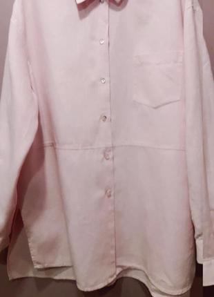 Рубашка розового цвета-лен
