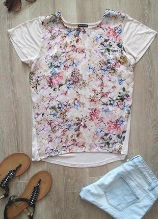 Футболка блуза цветочный принт