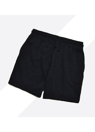 Peacocks l / чёрные лёгкие трикотажные мягкие шорты на резинке без начёса
