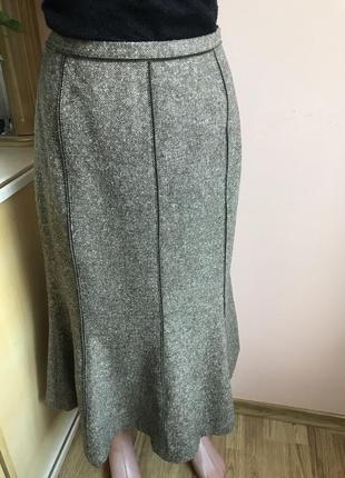 Фирменная юбка от basler шерсть шелк 38 s, m