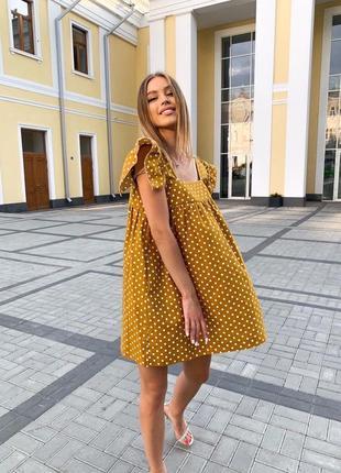 Платье сарафан в горошек