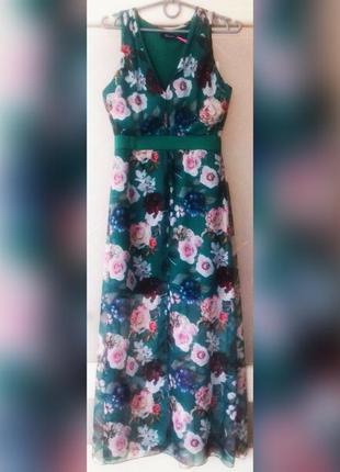 Сукня довга з квітковим принтом, італія