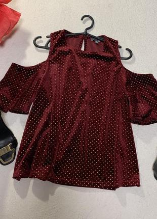 Шикарная бархатная блуза,размер xxl