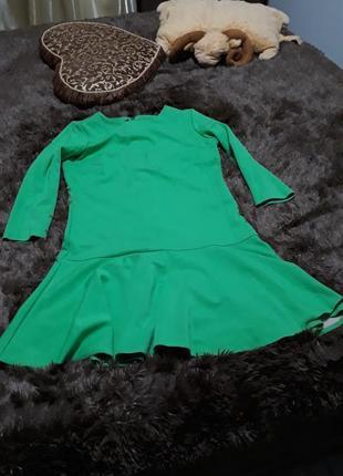 Платье рюши ,  размер 44-48