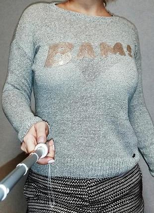Джемпер из льна и хлопка tom tailor 14-16  размер