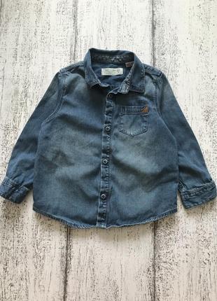 Крутая джинсовая рубашка zara 2-3 года