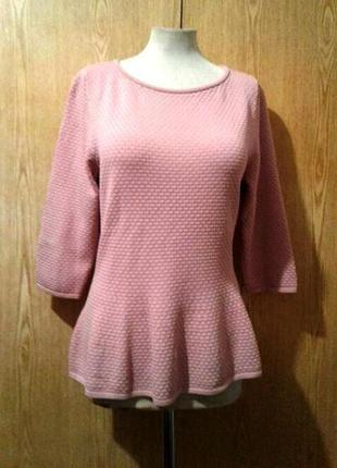 Блузка пудрового цвета буклированная, вискоза, 2xl.