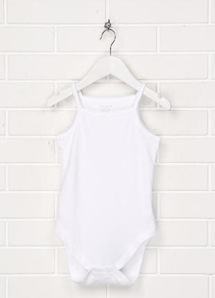 Бодік для дівчинки 086 см (12-18 months) білий на бретелях primark 55401