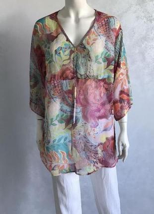 Heine шифоновая блуза туника с длинным рукавом р 46 - 48 -50