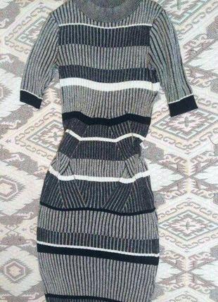 Бандажное платье миди от river island размер xs (34)