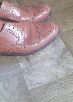 Кожаные туфли оксфорды