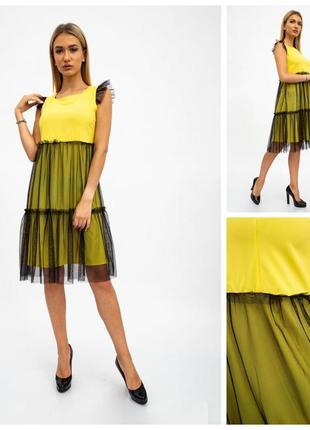 Платье женское 119r287 цвет желто-черный