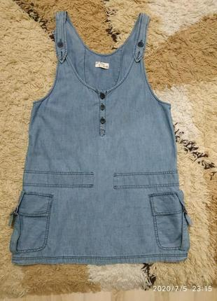 Летний сарафан под джинсовый, можно для беременных xdye 46-48-50