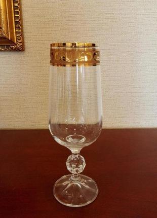 Бокалы шампанское вино crystalex bohemia cristalline claudia