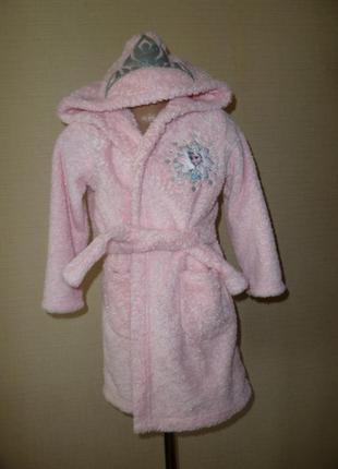 Frozen халат с принцессой эльзой на 3-4 года от marks&spencer