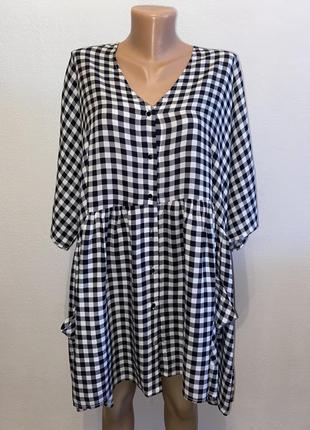 Рубашка-платье больших размеров