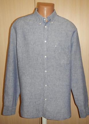 Льняная рубашка new man p.xl