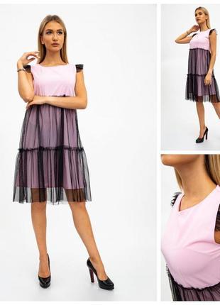 Платье женское 119r287 цвет розово-черный