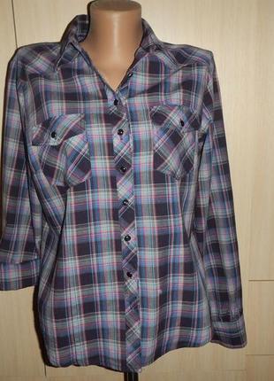 Рубашка dunnes р.14(42)блуза