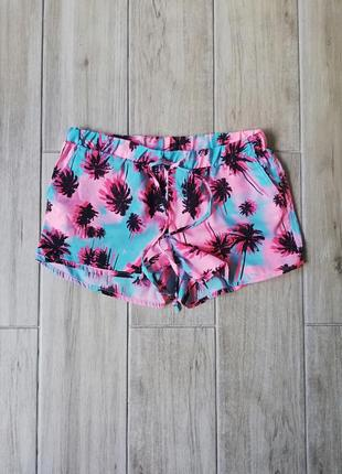 Шорты с пальмами terranova,шорти розмір xs-s