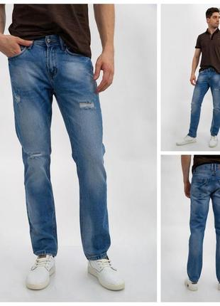Джинсы мужские стильные синего цвета 129r8801-3
