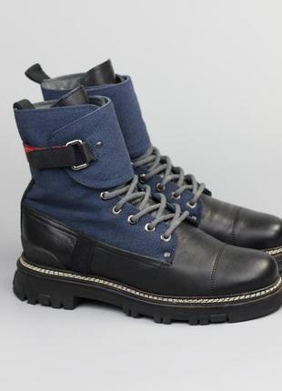 Кожаные ботинки в стиле gucci dior saint laurent louis vuitton dolce gabbana versace