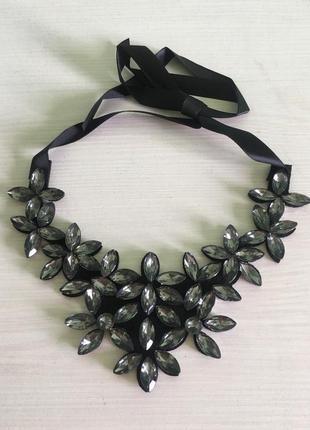 Ожерелье колье темный