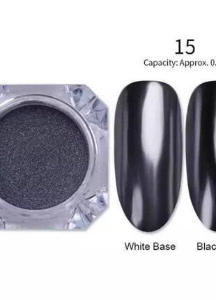 Зеркальная втирка - хром, чёрная (41295-1)