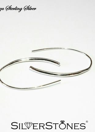 Серебряные серьги сережки corno серебро 925 fiorenza италия