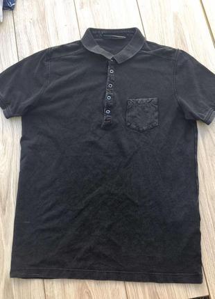 Стильная актуальная футболка поло тренд майка cast iron zara h&m тенниска