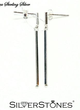 Серебряные серьги сережки curtness серебро 925 fiorenza италия