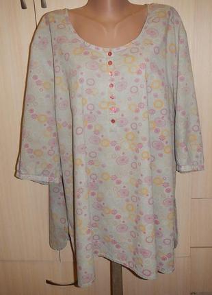 Лёгкая блуза батал р.28(54\62) хлопок