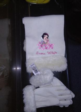 Зимний набор (перчатки/шарфик) для девочки, дисней