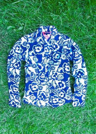💜💙 шикарная, оригинальная рубашка ☢️ tommy hilfiger 💎 c v-образным вырезом