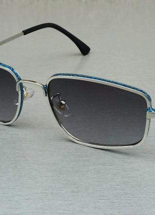 Jimmy choo очки женские солнцезащитные стильные узкие черные с синим