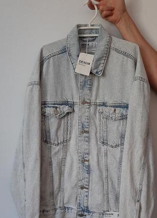 Джинсова куртка bershka