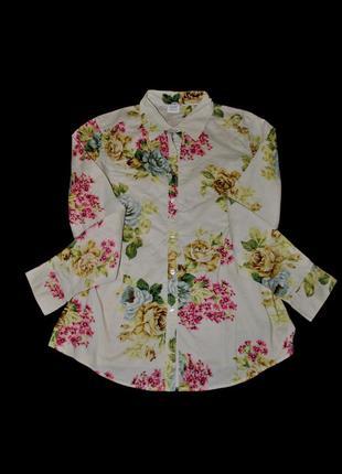 Рубашка m/l женская принт цветы нежная стильная германия бренд esprit