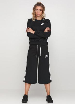 Новые чёрные кюлоты бриджи штаны широкие nike