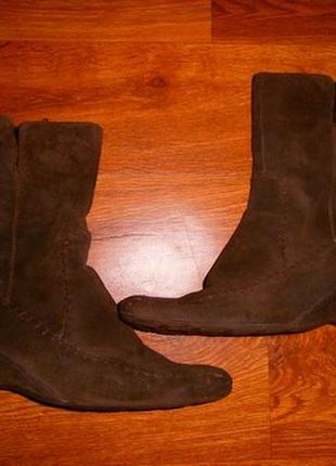 Женские демисезонные ботинки, полусапожки из натуральной замши 42 р.