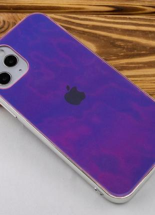 Фиолетовый чехол gradient rainbow с лого