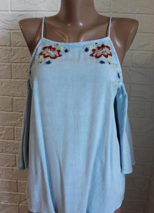 Блузка с открытыми плечами new look в идеальном состоянии s-m
