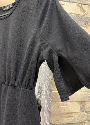 Платье длины миди чёрное шикарное по фигуре