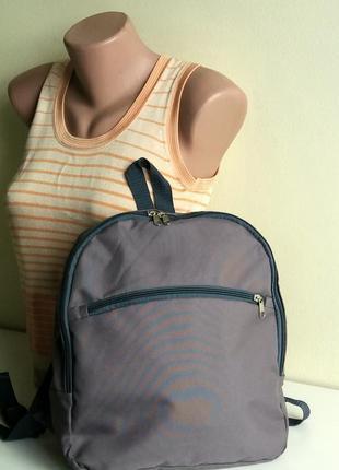 Рюкзак городской спортивный простой средний легкий серый недорого